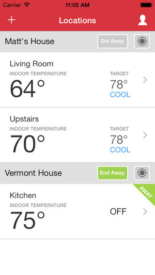 multiple wifi thermostat homes